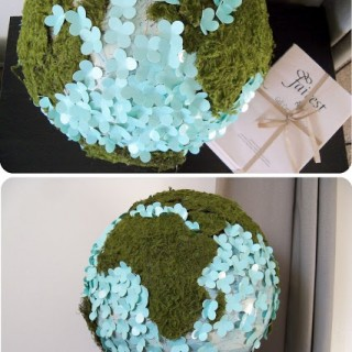$5 Friday: Globe upcycled for Spring!