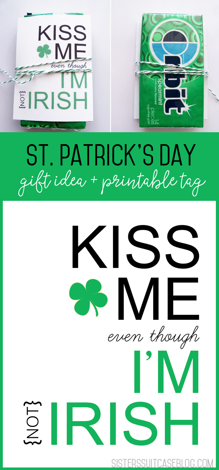 Kiss Me Printable Gift Idea