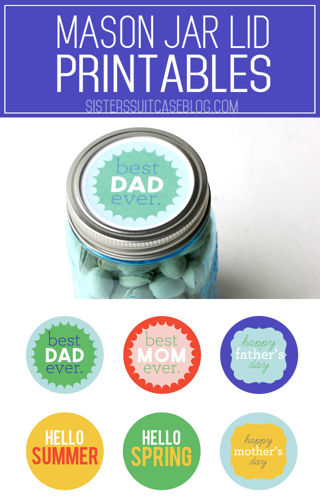 photograph about Printable Mason Jar named Mason Jar Tag Printables - My Sisters Suitcase