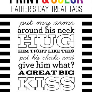 Father's Day Treat Tags: Print & Color Version