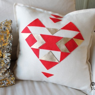 Aztec Heart Pillow