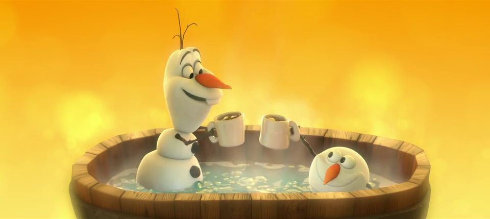 The Hot and the Cold are both so intense  put    em together     it    Olaf Snowman Frozen Wallpaper