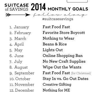 Suitcase of Savings UPDATE: March Goal
