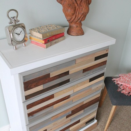 Upcycled Wood Shim Dresser