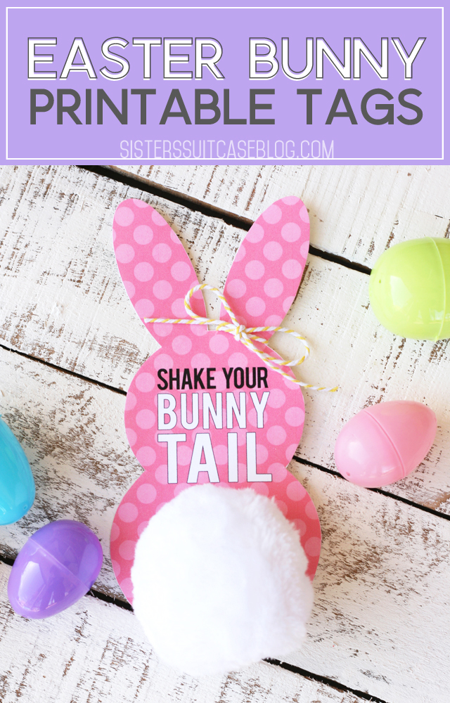 Easter Bunny Tail printable tags