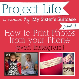 How to Print Phone & Instagram Pics {for Project Life}