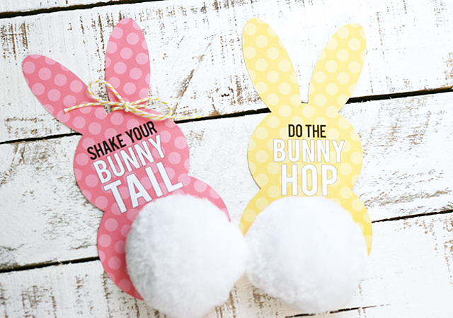 Easter Bunny Tail tags