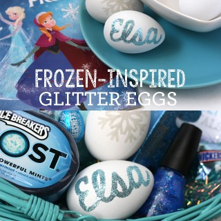 DIY FROZEN – Inspired Glitter Eggs