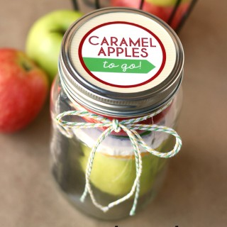 Caramel Apples To Go (Teacher Gift Idea)
