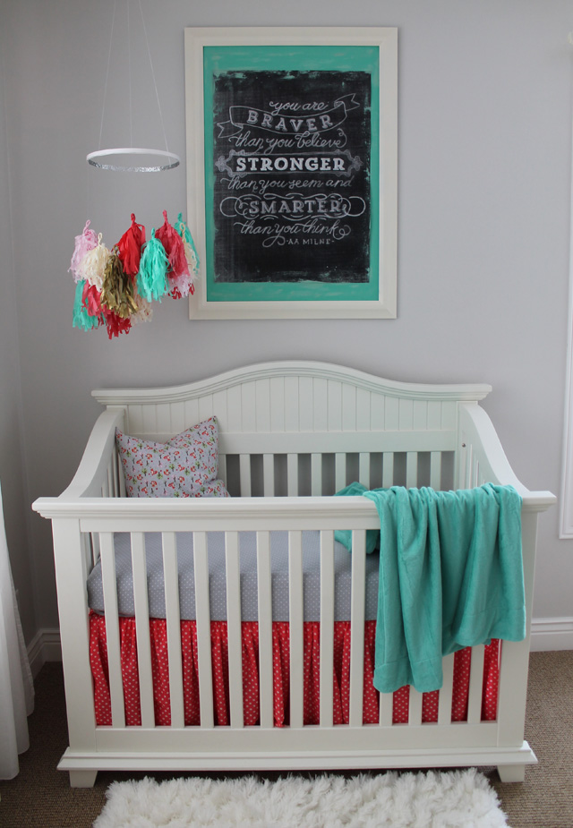 Fox nursery room : The inspiration for her entire room came from fabrics i used ...