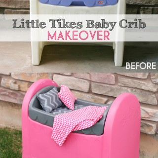 Little Tikes Baby Crib Makeover