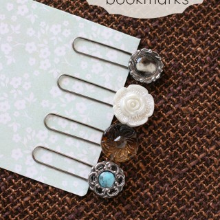 "DIY ""Vintage"" Button Bookmarks – 5 Minute Project!"
