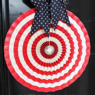 $5 Patriotic Fan Wreath