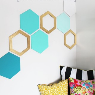 Easy Hexagon Wall Treatment