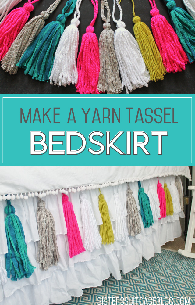 Make a Yarn Tassel Bedskirt