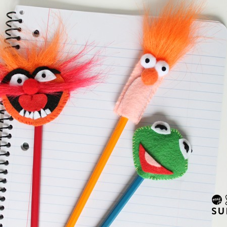 Felt Muppet Pencil Toppers