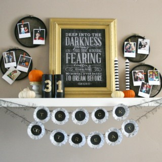 Glitter Glam Halloween Mantel (and a big FIRST!)