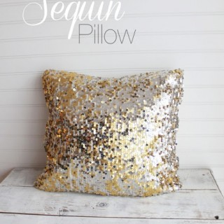 DIY Sequin Pillow
