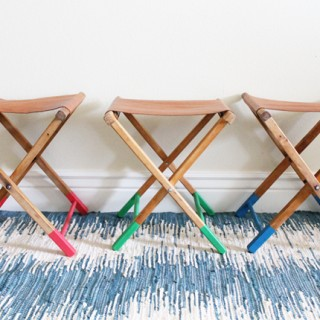 Upcycled Vintage Stools + Leather Giveaway!