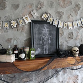 Halloween Mantel with American Crafts & Target