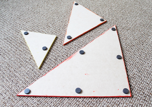magnets on tangrams