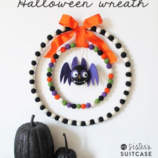 Felt Ball Halloween Wreath