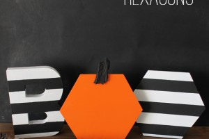 halloween hexagon BOO