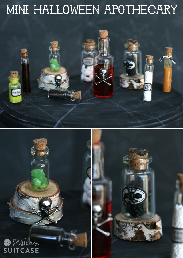 Mini halloween apothecary jars my sister s suitcase packed with