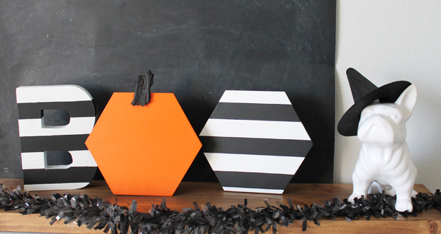 Modern Halloween Decor halloween hexagon boo - my sister's suitcase - packed with creativity