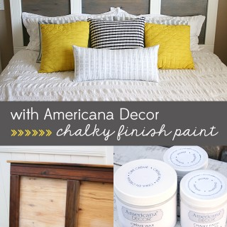 Modern Headboard Makeover with Chalky Finish Paint