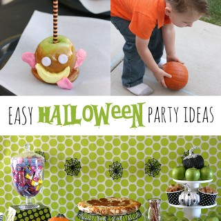 Candy Caramel Apples and Halloween Party Ideas