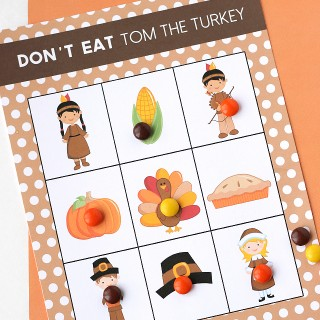 Printable Thanksgiving Game : Don't Eat Tom!