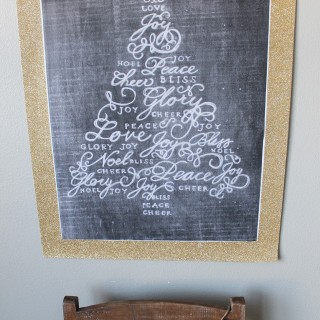 $5 Friday: Christmas Tree Chalk Art