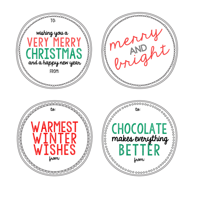 Hot Chocolate Neighbor Gift Tags - My Sister's Suitcase - Packed with ...