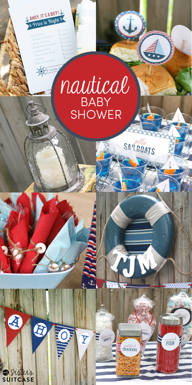 nautical theme baby shower ideas  my sister's suitcase  packed, Baby shower