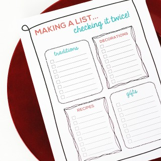 Printable Holiday Organizer