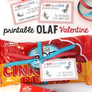 Printable FROZEN Valentine With Olaf