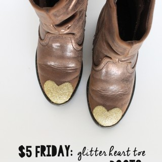 $5 Friday: Glitter Toe Boots