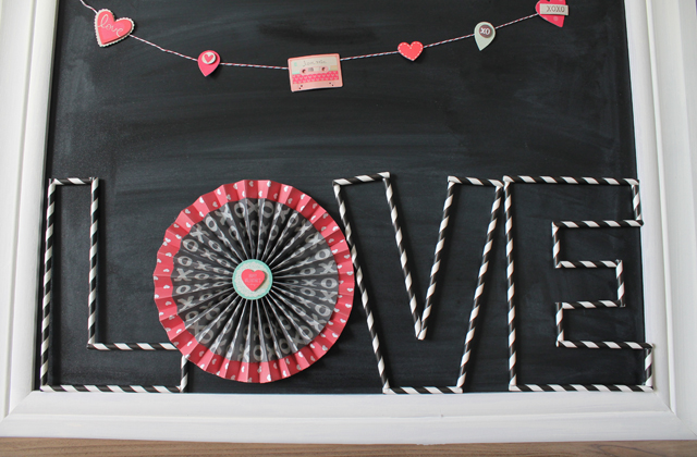paper straw letters tutorial