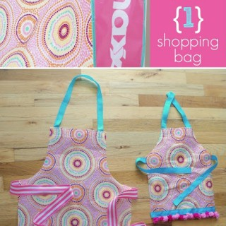Reusable Shopping Bag to Apron!