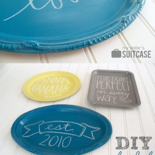 $5 Friday: Colorful Chalkboards {from Dollar Store platters}