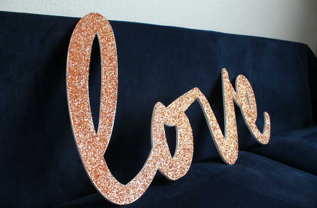 finished glitter letters