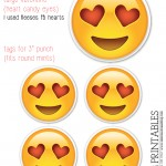 heart face tag printables