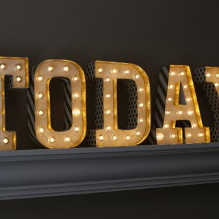 Gold Glitter Marquee Letters