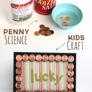 Science With Kids + Penny Frame Craft