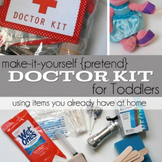 "Toddler ""Doctor Kit"" In a Bag"
