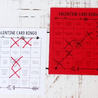 Valentine Card Bingo Printable
