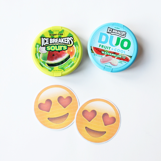 round emoji tags for mints