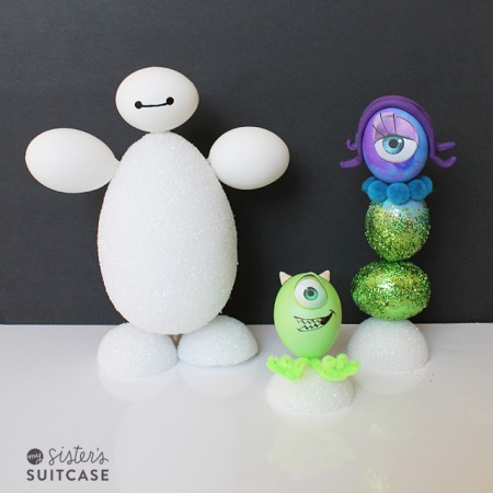 Baymax and Monsters Inc Easter Eggs