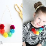 finished pom pom necklace